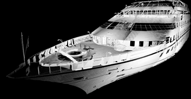 3D laser scanning of boat